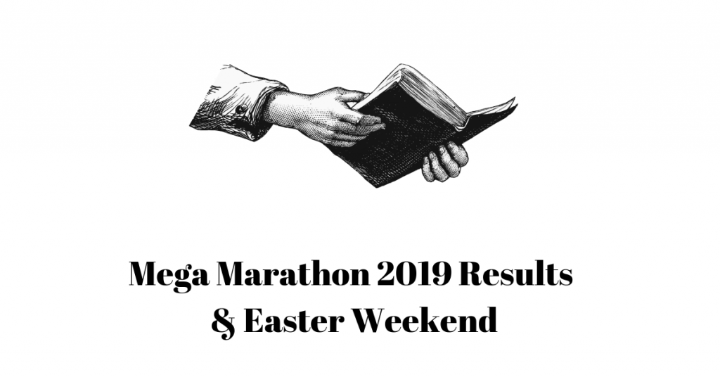 Open Bible in hand Mega Marathon Results