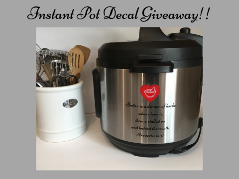 Instant Pot Decal by Dinner of Herbs
