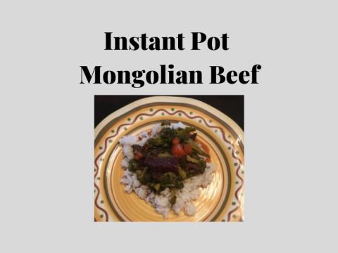 Mongolian Beef Dish
