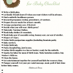 Printable Getting Ready for Baby Checklist