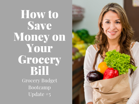 Lady happy saving money on your grocery bill