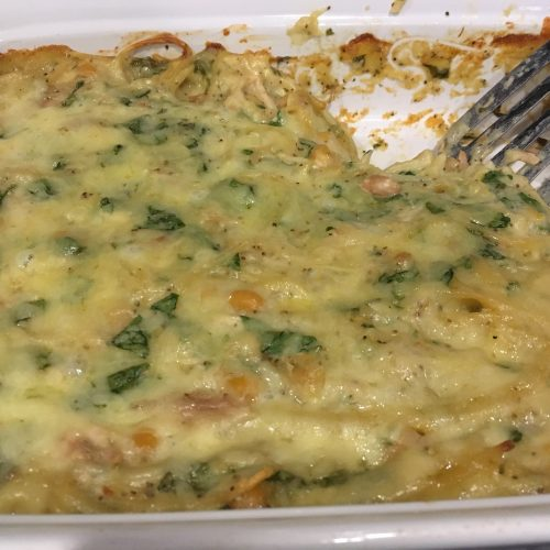Chicken Tetrazzini with Chickpeas & Spinach